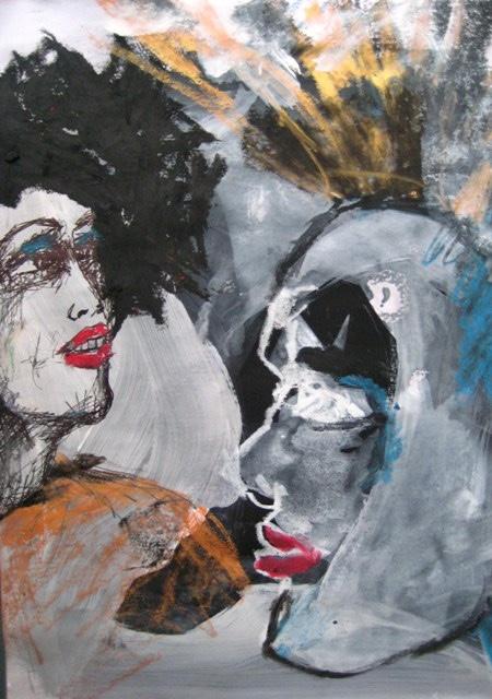 2008-Malerei-Farbe-5-Irokesenschnitt-gold-Luisa-Pohlmann-Kunst-Berlin