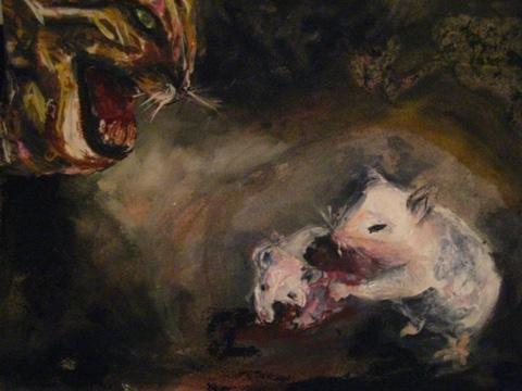 2008-Malerei-Farbe-6-Katze-Maus-Kanibalismus-Luisa-Pohlmann-Kunst-Berlin