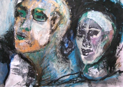 2008-Malerei-Farbe-7-Portrait-Gold-Luisa-Pohlmann-Kunst-Berlin