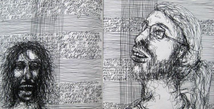 2008-Skizzen-Bewegung-10-Brille-Pferdeschwanz-Luisa-Pohlmann-Kunst-Berlin