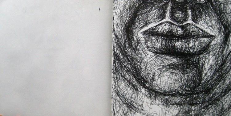 2008-Skizzen-Bewegung-15-Mund-Luisa-Pohlmann-Kunst-Berlin