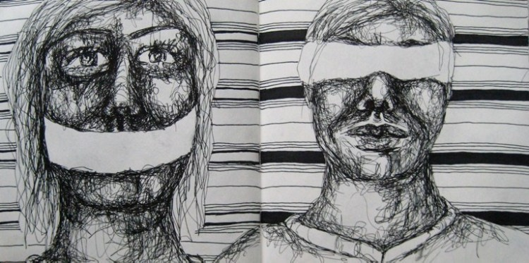 2008-Skizzen-Bewegung-16-Augenbinde-Mundbinde-Luisa-Pohlmann-Kunst-Berlin