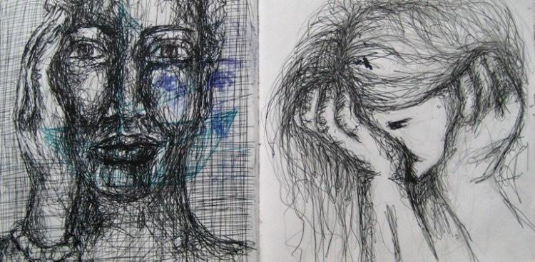 2008-Skizzen-Bewegung-3-weinen-Luisa-Pohlmann-Kunst-Berlin