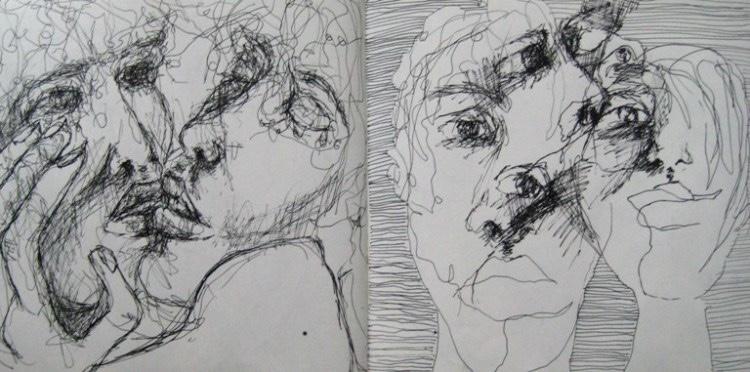 2008-Skizzen-Bewegung-31-kuss-liebe-Luisa-Pohlmann-Kunst-Berlin