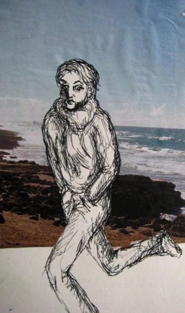 2008-Zeichnung-Farbe-2-Strand-Luisa-Pohlmann-Kunst-Berlin