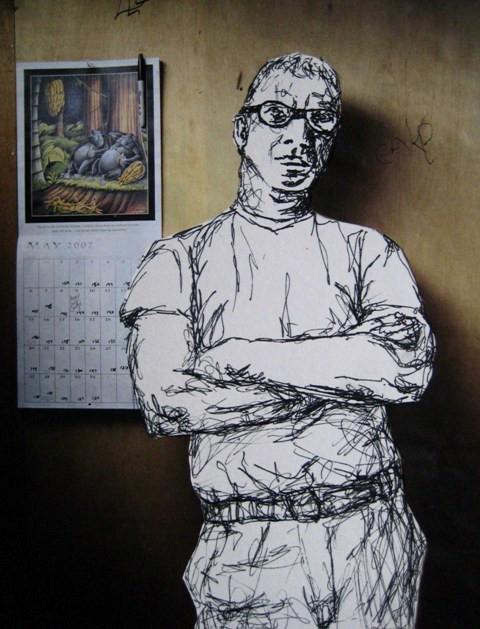 2008-Zeichnung-Farbe-4-Mann-Luisa-Pohlmann-Kunst-Berlin