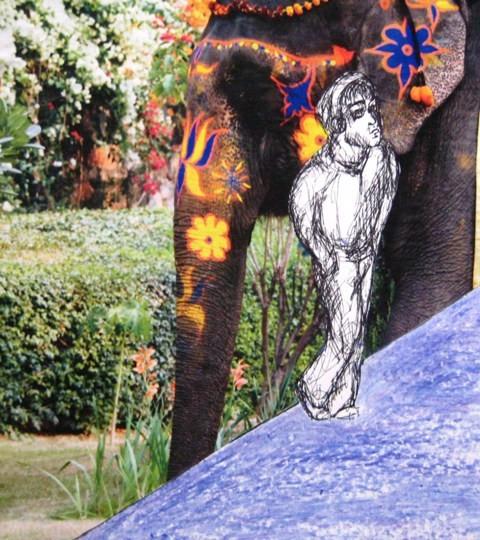 2008-Zeichnung-Farbe-9-Elefant-Luisa-Pohlmann-Kunst-Berlin