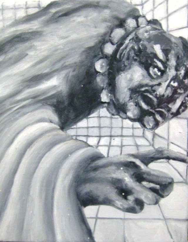 2009-Malerei-Angst-13-Gesichter-Finger-Luisa-Pohlmann-Kunst-Berlin