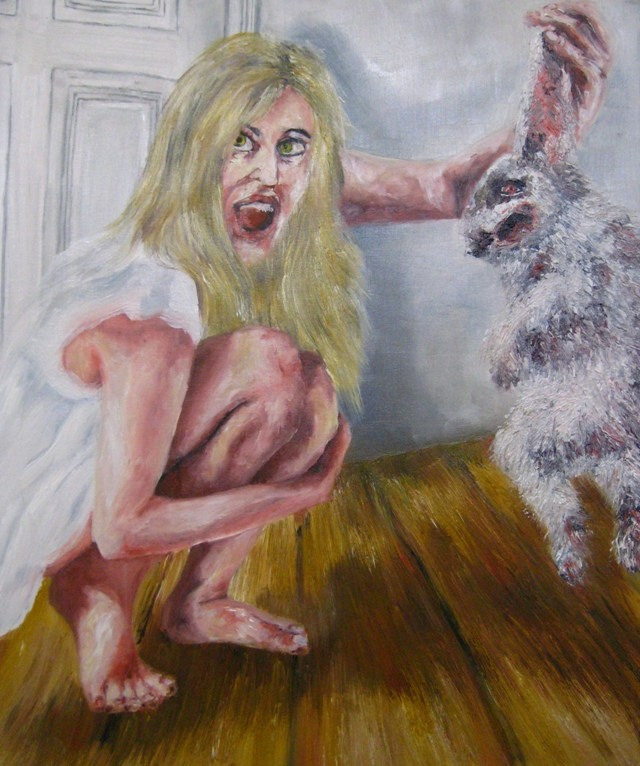 2009-Malerei-Angst-4-Hase-Maedchen-Luisa-Pohlmann-Kunst-Berlin
