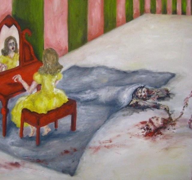 2009-Malerei-Angst-8-Blut-Kopf-Teppich-Luisa-Pohlmann-Kunst-Berlin