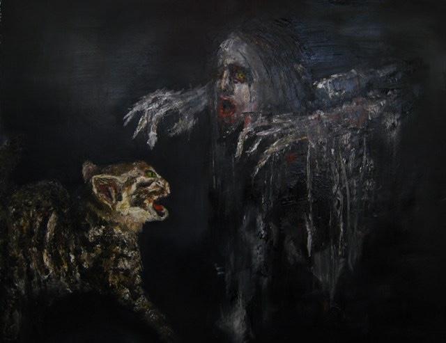 2009-Malerei-Angst-9-Geist-Katze-Luisa-Pohlmann-Kunst-Berlin