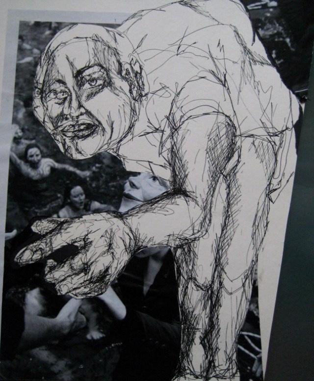 2009-Zeichnung-Angst-1-Mensch-Zyklop-Luisa-Pohlmann-Kunst-Berlin