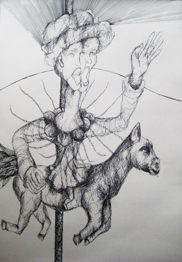 2009-Zeichnung-Angst-19-Pferd-Luisa-Pohlmann-Kunst-Berlin