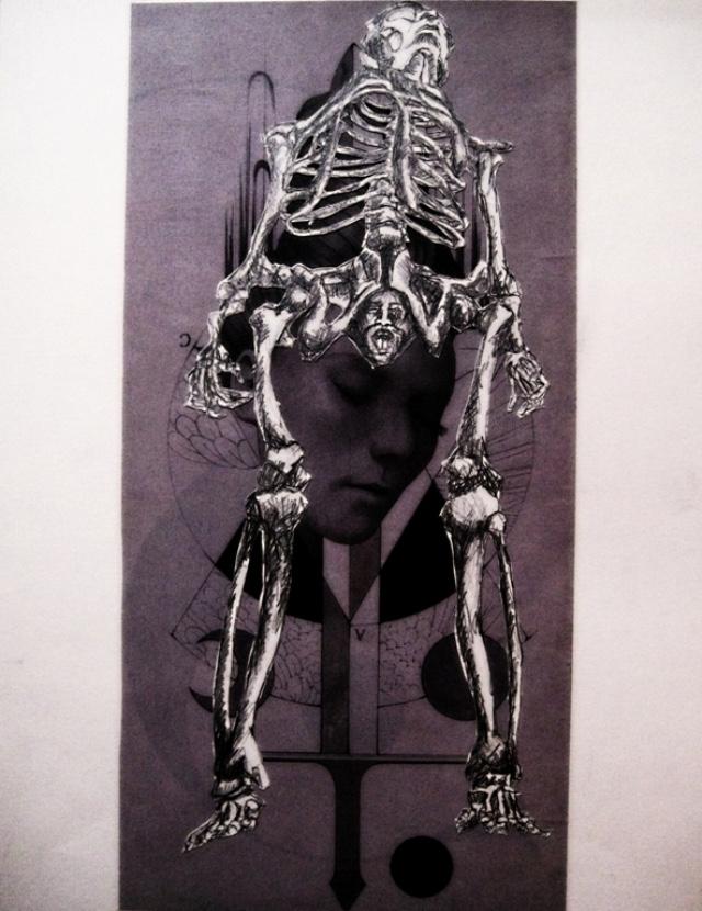 2009-Zeichnung-Angst-2-Skelett-Luisa-Pohlmann-Kunst-Berlin