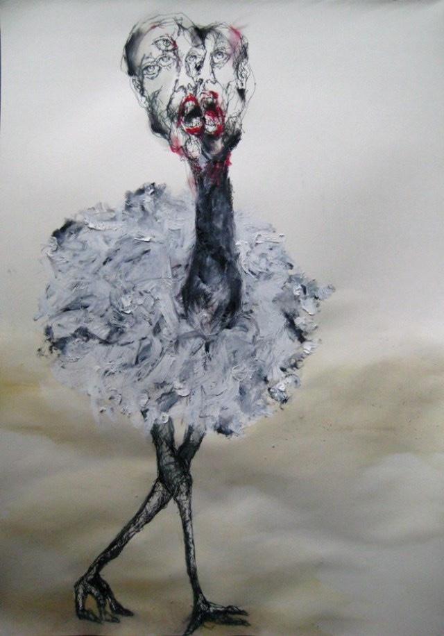 2009-Zeichnung-Angst-21-Strauss-Luisa-Pohlmann-Kunst-Berlin