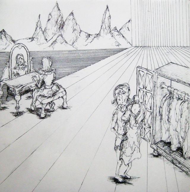 2009-Zeichnung-Angst-26-Kleiderschrank-Schminktisch-Luisa-Pohlmann-Kunst-Berlin