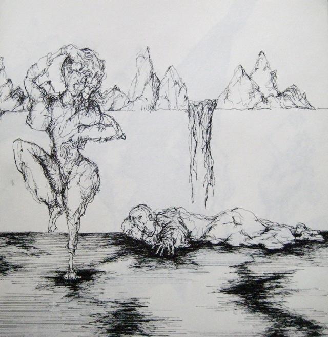 2009-Zeichnung-Angst-28-Fallen-Tanz-Wasserfall-Luisa-Pohlmann-Kunst-Berlin
