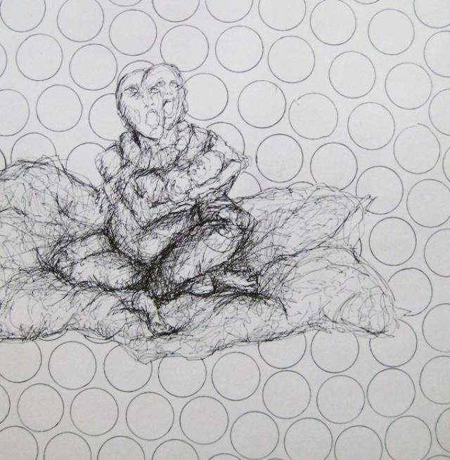 2009-Zeichnung-Angst-42-Baby-Seifenblase-Luisa-Pohlmann-Kunst-Berlin