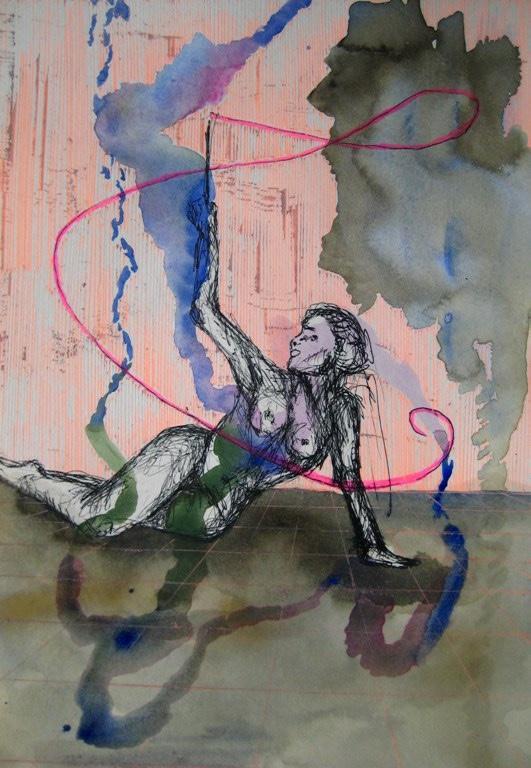 2009-Zeichnungen-Tanzen-1-Luisa-Pohlmann-Kunst-Berlin