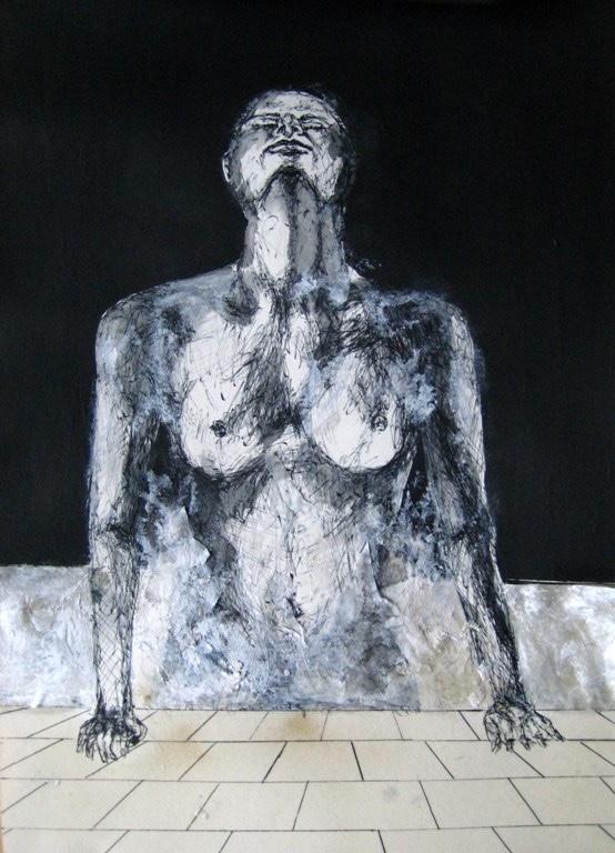 2009-Zeichnungen-Tanzen-7-brust-pool-Luisa-Pohlmann-Kunst-Berlin
