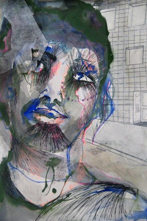 2009-Zeichnungen-Tanzen-9-Portrait-Luisa-Pohlmann-Kunst-Berlin