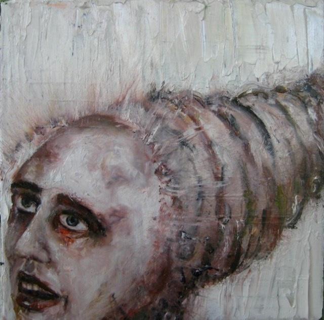 2010-Malerei-Schmerz-13-Raupe-wurm-Luisa-Pohlmann-Kunst-Berlin