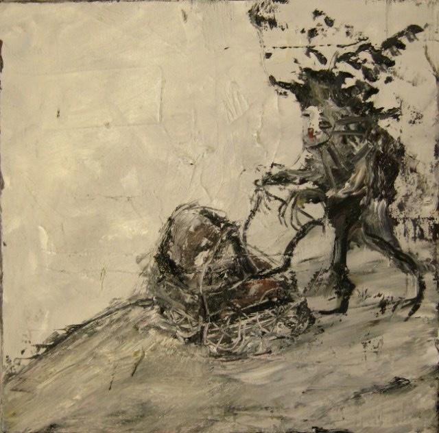2010-Malerei-Schmerz-3-Kinderwagen-Luisa-Pohlmann-Kunst-Berlin
