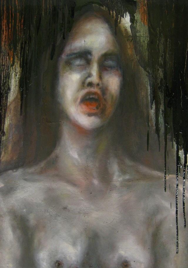 2010-Malerei-Schmerz-6-stummer-schrei-brust-Luisa-Pohlmann-Kunst-Berlin