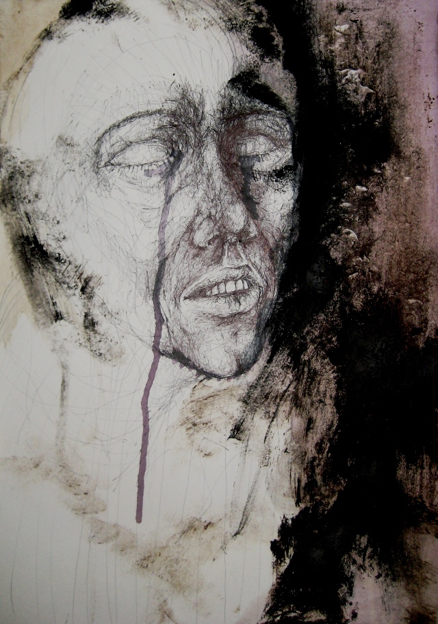 2010-Zeichnung-Schmerz-1-weinen-traene-Luisa-Pohlmann-Kunst-Berlin