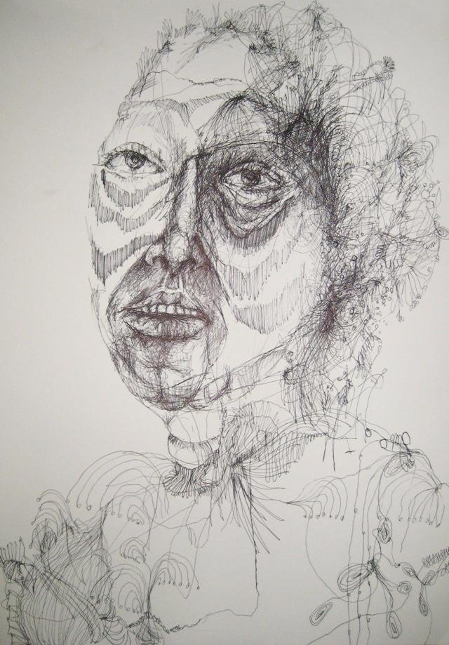 2010-Zeichnung-Schmerz-12-indianerin-Luisa-Pohlmann-Kunst-Berlin