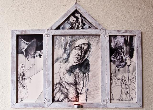 2010-Zeichnung-Schmerz-14-triptichon-weinen-Luisa-Pohlmann-Kunst-Berlin