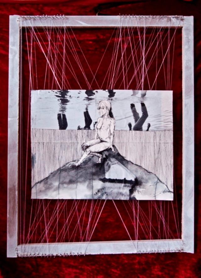 2010-Zeichnung-Schmerz-15-huegel-berg-nackt-spiegelung-see-Luisa-Pohlmann-Kunst-Berlin