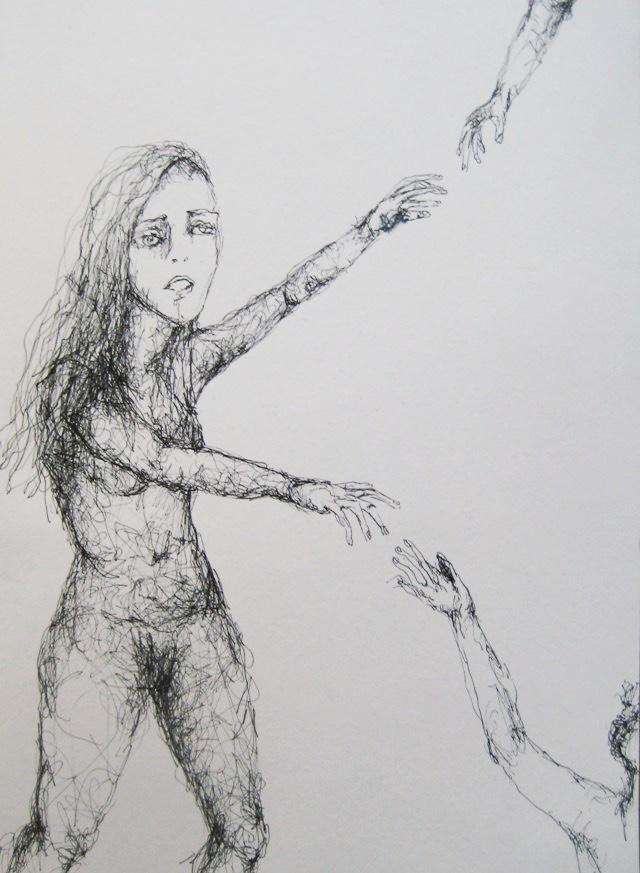 2010-Zeichnung-Schmerz-18-unentschlossenheit-Luisa-Pohlmann-Kunst-Berlin