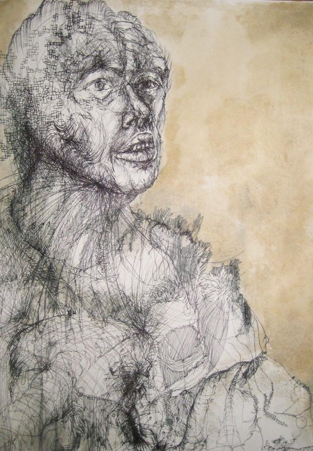 2010-Zeichnung-Schmerz-2-kaffee-indianer-Luisa-Pohlmann-Kunst-Berlin