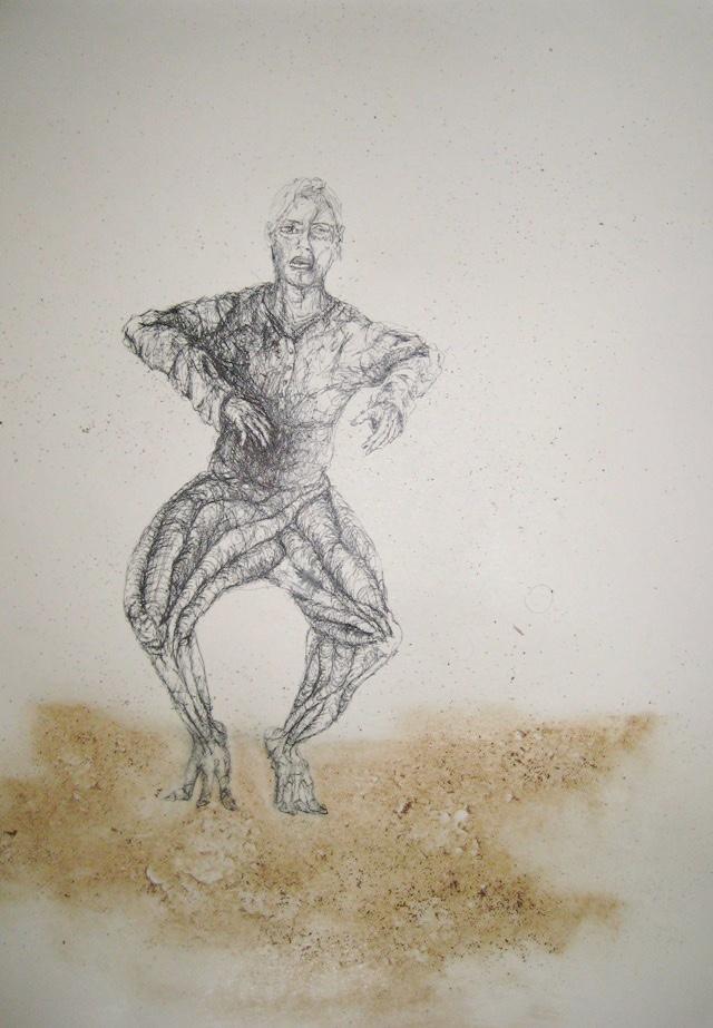 2010-Zeichnung-Schmerz-20-huepfen-tier-mensch-Luisa-Pohlmann-Kunst-Berlin