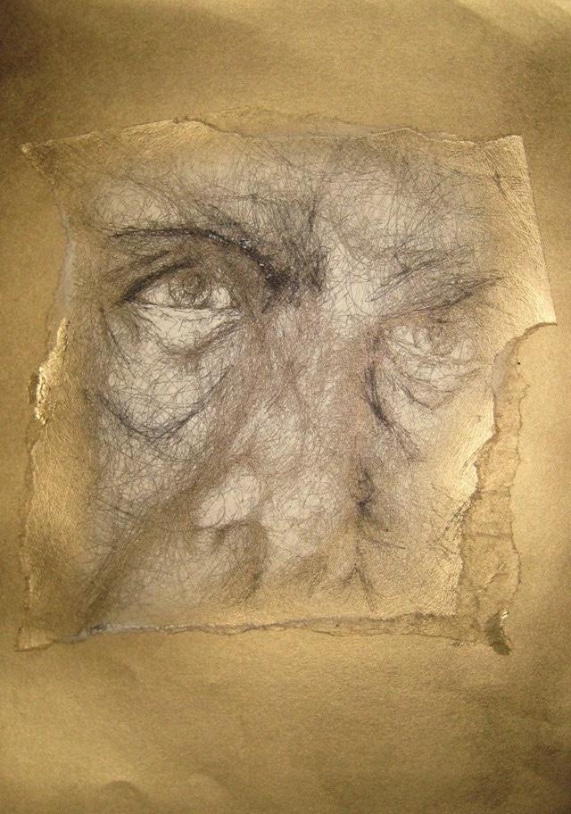 2010-Zeichnung-Schmerz-22-gold-blick-Luisa-Pohlmann-Kunst-Berlin