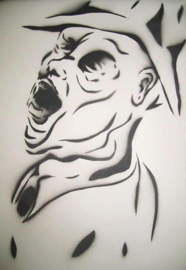 2010-Zeichnung-Schmerz-23-schrei-grafitti-sprayen-Luisa-Pohlmann-Kunst-Berlin
