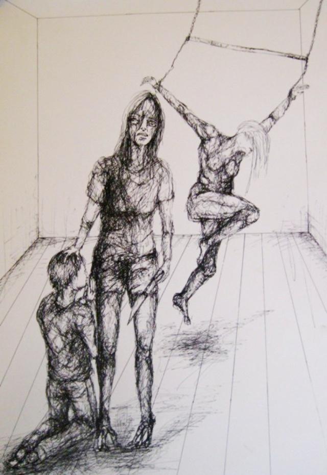 2010-Zeichnung-Schmerz-24-folter-wut-messer-betteln-Luisa-Pohlmann-Kunst-Berlin