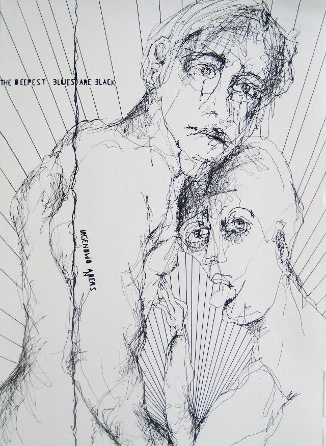 2010-Zeichnung-Schmerz-25-deepest-blues-are-black-Luisa-Pohlmann-Kunst-Berlin