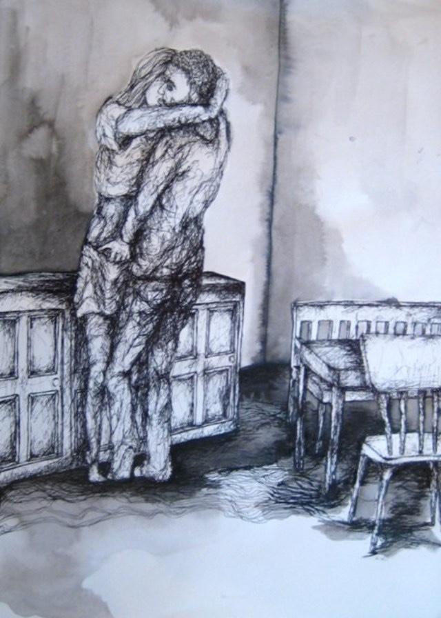2010-Zeichnung-Schmerz-28-liebe-kuessen-leidenschaft-Luisa-Pohlmann-Kunst-Berlin