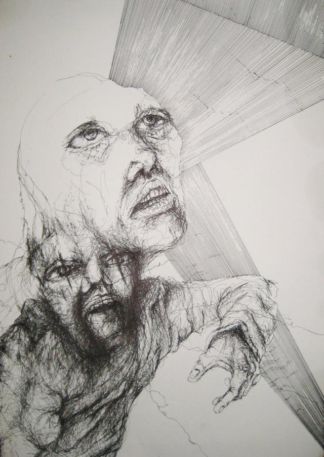 2010-Zeichnung-Schmerz-3-flucht-wut-bosheit-Luisa-Pohlmann-Kunst-Berlin