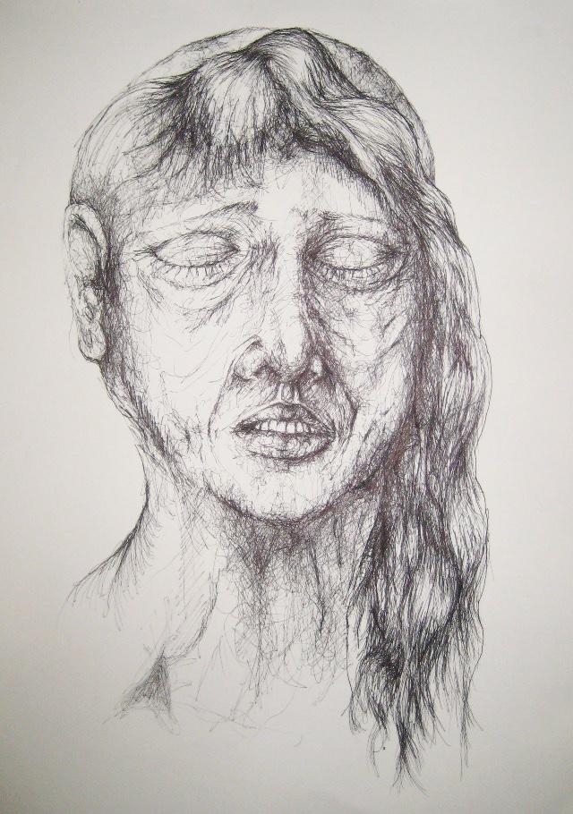 2010-Zeichnung-Schmerz-4-trauer-Luisa-Pohlmann-Kunst-Berlin