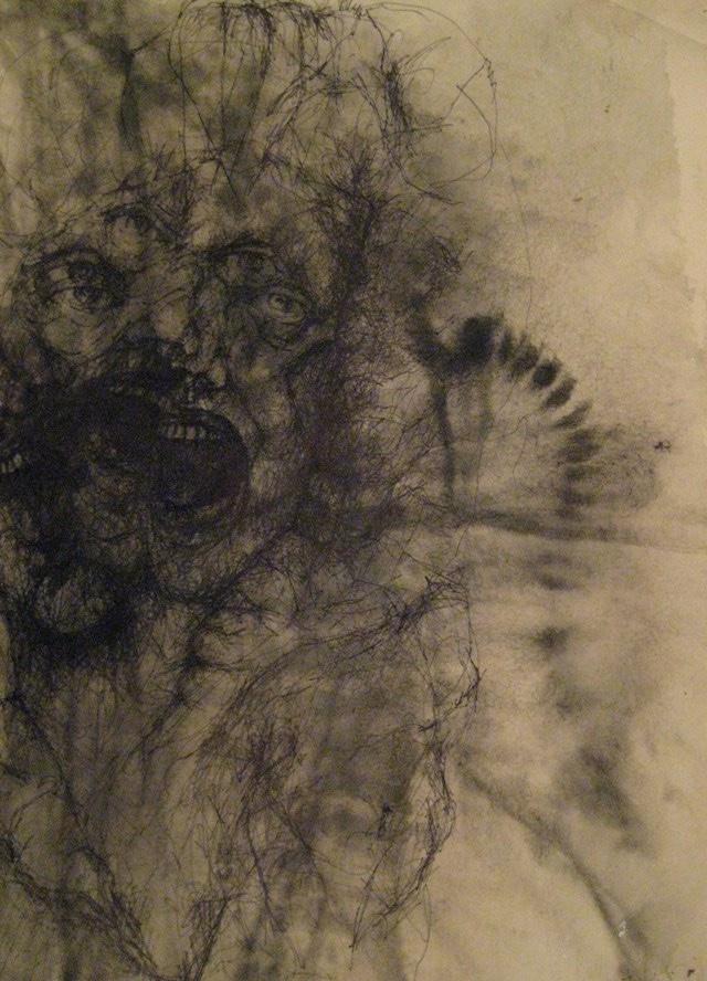 2010-Zeichnung-Schmerz-7-schrei-Luisa-Pohlmann-Kunst-Berlin