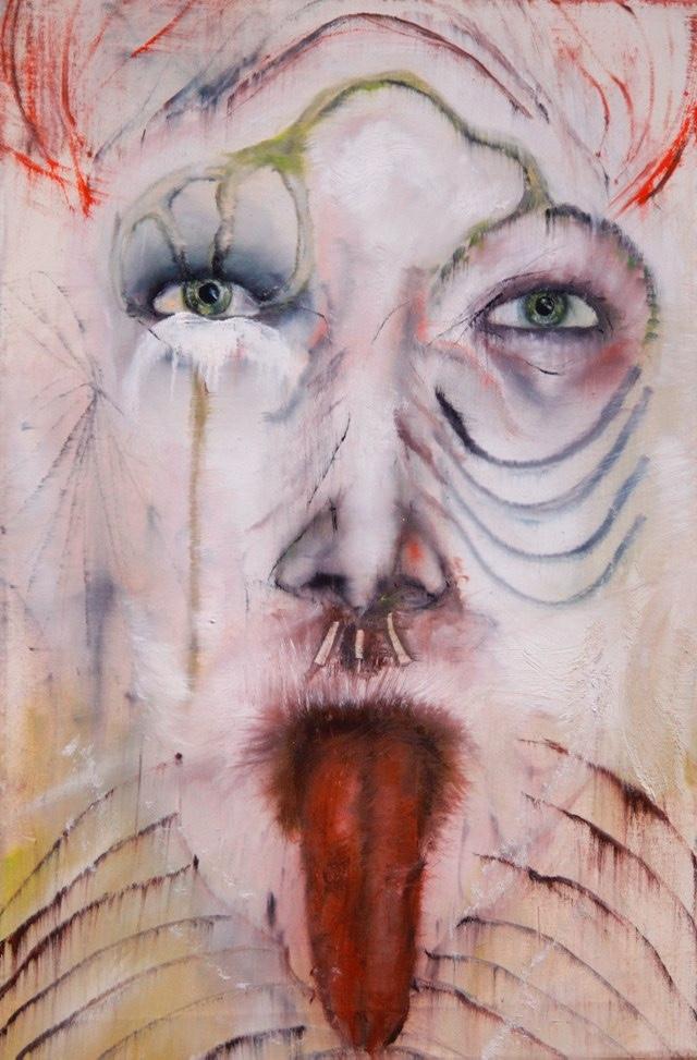 2011-Malerei-Emotion-10-gesicht-YZAYA-zunge-Luisa-Pohlmann-Kunst-Berlin
