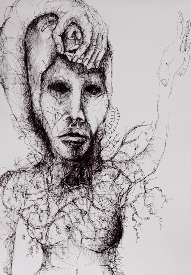 2011-Zeichnung-Emotion-1-albtraum-Luisa-Pohlmann-Kunst-Berlin