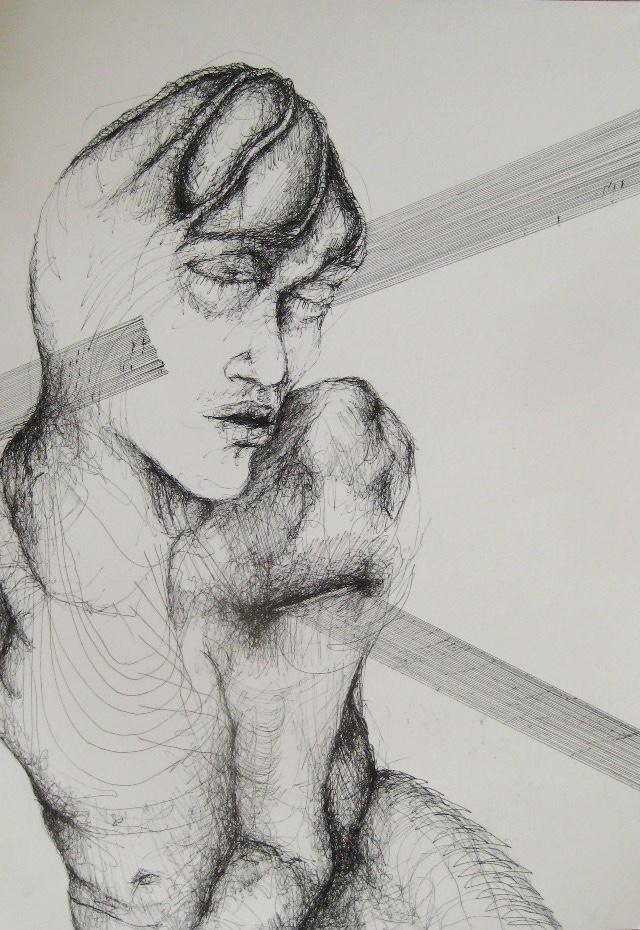 2011-Zeichnung-Emotion-10-schnitt-Luisa-Pohlmann-Kunst-Berlin