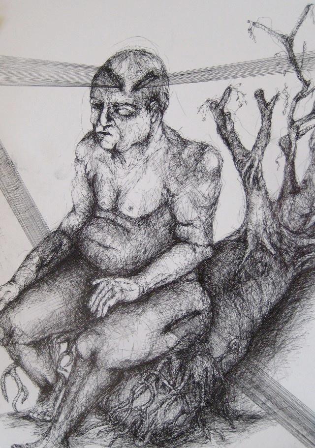 2011-Zeichnung-Emotion-11-baum-wurzel-schnitt-Luisa-Pohlmann-Kunst-Berlin