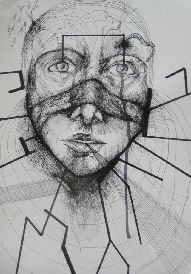 2011-Zeichnung-Emotion-16-kreis-augen-Luisa-Pohlmann-Kunst-Berlin