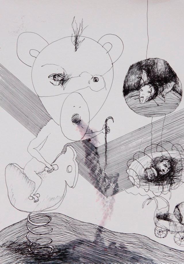 2011-Zeichnung-Emotion-2-kinderwagen-mickymaus-Luisa-Pohlmann-Kunst-Berlin