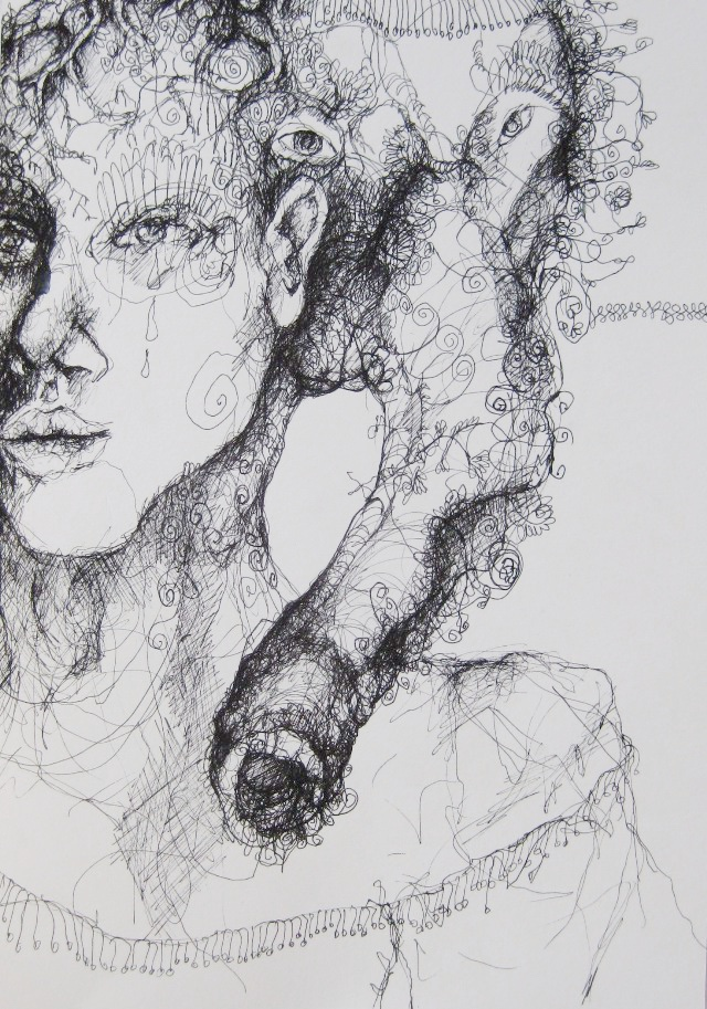 2011-Zeichnung-Emotion-23-elefant-frau-Luisa-Pohlmann-Kunst-Berlin